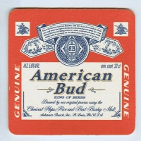 Budweiser   (USA) base verso