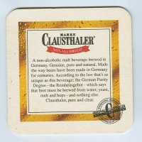 Clausthaler base verso
