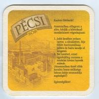 Pécsi sörfőzde base verso